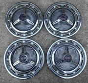4 Four 65-66 Chevy Impala Ss Hubcaps Hub Caps Wheel Cover Oem 14 Spinners