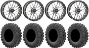 System 3 St-3 Machined 20 Wheels 35 Motoravage Tires Rzr Turbo S/rs1