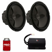 Wet Sounds Two Ss-10bs4 Black 10 Subs And A Mb Quart Na2-400.1 400 Watt Amp