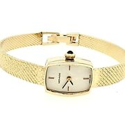 Preowned Movado Solid 14k Gold Swiss Windup Watch