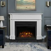 Real Flame Electric Fireplace Harlan Grand Infrared X-lg Firebox White