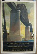 Vintage 1925 New York Central Lines Castleton Cut-off 27x41 Poster Free Shipping