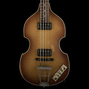 Hofner And03963 H500/1-63-rlc Relic Violin Bass Sunburst Made In Germany With Case