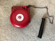 Vintage Red Reiter 60f6 Cast Iron School Fire Railroad Boxing Ring Bell