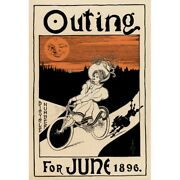 Outing Magazine Poster Bicycle Poster Fine Art Vintage Bicycle Poster 11 X 17