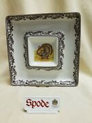Spode Woodland Turkey Chip And Dip Platter New