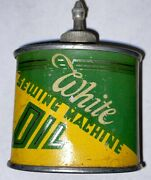 Vintage White Sewing Machine Oil Can Handy Oiler Extremely Rare