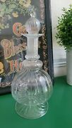 Egyptian Clear Hand Blown Glass Decanter 11 Genie Bottle Excellent Free Ship