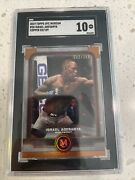 2019 Topps Ufc Museum Israel Adesanya Copper Rookie /159 Double Champ Sgc 10