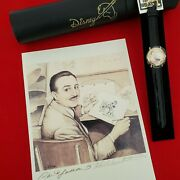 Rare Disney 100th Anniversary Watch Set With Signed Prints, New