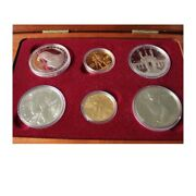 1983-1984 Olympic 6 Coin Set- 2- 10 Gold Coins - 4 Silver Dollars Proof Coa