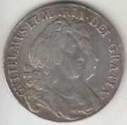 Great Britain 1693 William And Mary Silver Half Crown Xf
