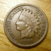 1909 S Indian Head Cent Penny