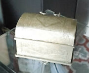 Moroccan Old Fine Tuareg Silver 800 Jewelry Chest,mauritania Chest,vintage Chest