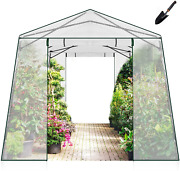 Joyside Walk-in Greenhouse 7 Ft X 8.5 Ft Pop-up Outdoor Green House With Garden