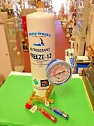 Refrigerant, Freeze 12, R-12, R12 Replacement, 28 Oz. Can, Gauge, On/off Valve