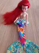 Little Mermaid Tyco Calypso Doll And Tail Rare Lovely Hair