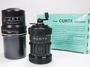 Curta Calculator All Metal Type I 1961 W/can Manual Excellent Perfect Working
