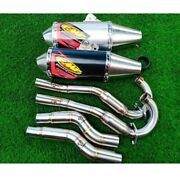 Exhaust Headers Muffler Yamaha Wr155 Stainless Steel System Side Pipe Motorcycle