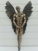 Discontinued Nemesis Now Heaven Sent Wall Plaque Angel Gothic Catholic Bronzed