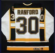 Boston Bruins Bill Ranford Authentic Ccm Jersey 1995/96 New With Tags Signed