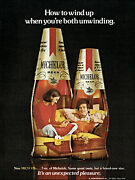 1975 Michelob Beer Lounging Couple Sofa 2 Bottles Vintage Photo Print Ad Ads4