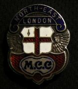 Rare 1930and039s North East London Motorcycle Club Sterling Silver Award Pin Vintage