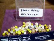 Lot 57 Authentic Ancient Roman Empire Yellow Beig Bead Artifacts 1st-3rd Century