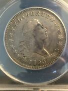 1795 O-105 Flowing Hair Half Dollar F-12 Cleaned Free Shipping