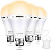 Rechargeable Emergency Light Bulbpack Of 4, Battery Backup For Power Outage, 80w