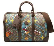 X Disney Leather And Canvas Duffle Bag