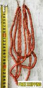 Real Old Coral Beads - 124 G Natural Stones Jewelry Rare Necklace