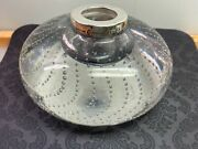 Gorham Durgin Pairpoint Controlled Bubble Glass Inkwell Sterling Silver Large
