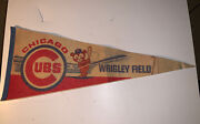 Vintage Chicago Cubs Wrigley Field Pennant