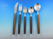 Opus Rosewood Lundtofte Denmark Stainless Steel Flatware Set Service 50 Pieces