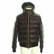 Secondhand Moncler Marque Mark Down Jacket Long Sleeves/winter Dark Brown
