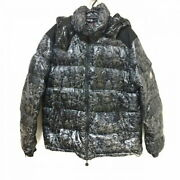 Moncler Down Jacket Size Xl Mens Forest Black Gray Long Sleeves/winter