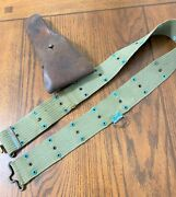 Original Wwi Us Military Army / Usmc .45 1911 Holster With M1912 Sabre Ring Belt