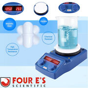 5 Inch Magnetic Stirrer Hot Plate Mixer With Stir Bar Stirring Capacity 5000ml
