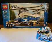 Lego City 4439 Heavy Lift Helicopter With Box And Instructions And Set 7285