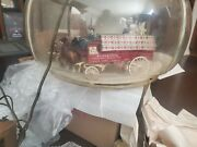 Vintage Rare Budweiser Clydesdale Parade Motion Carousel Lighted Pub Sign Bar