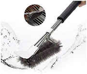 M C Grill Brush And Scraper For Cleaning Gas/charcoal Grilling Grates, Bbq Acces