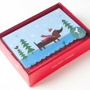 14 Count Dachshund ⭐ Christmas Boxed Cards Wiener Dogs Papyrus New Holidays