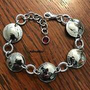 1959 Sterling Silver Dime Coin Bracelet Birthday Gift Pick The Birthstone Charm