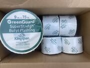 Greenguard Superstretch Butyl 9in X 75ft And 4 Rolls Flashing Tape 4andrdquow-75andrsquolong