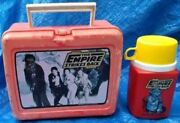 1980 Star Wars The Empire Strikes Back Red Lunchbox Complete With Thermos Vtg