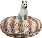Bessie And Barnie Signature Simba Luxury Extra Plush Faux Fur Bagel Pet/dog Bed
