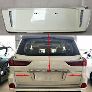 1pc For Lexus Lx570 2016-2021 Rear License Plate Molding With Led Backup White