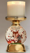Bath And Body Works Fall Harvest Woodland Critters Fox Leaves Globe Candle Holder