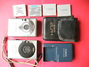 2 Cameras Canon Powershot Sd1000 Elph 7mp And Sd450 5 Mp Silver 4 Bat Charger Case